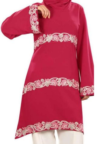 New tunic designer kurti with beautiful hand emroidery for daily summer wear