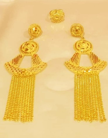 New Premium Gold Platted Trendy Exotic Dubai Design Earrings Women Jewellery
