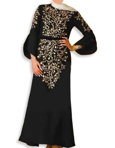 Elegant Classic Eid Collection Maxi Gown Formal Embroidered Kaftan Dresses For Women