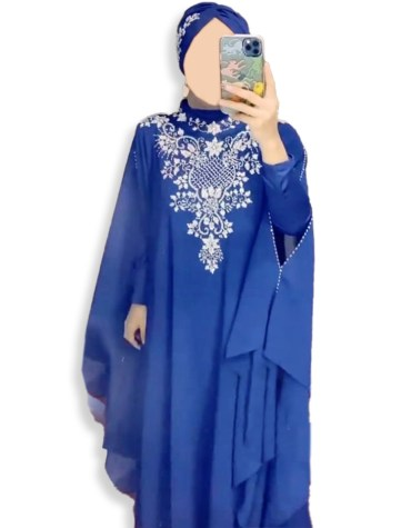 Elegant Designer Silver Beaded Trendy Collecton Dubai Kaftan Dresses For Women