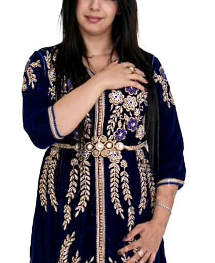 Super Elegant Maxi Gown Gold Beaded Fancy Dubai Kaftan Dresses For Women's Party