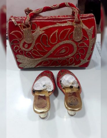 Latest Floral Fashion Handbag & Designer Shoe Combo Pack Party & Wedding For Women