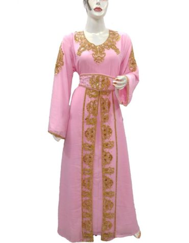 New Party Dubai Collection Kaftan Floral Gown Super Beaded Work Dress For Women