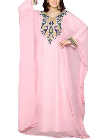 Latest Designer Brilliant Collection Floral With Beaded Work Kaftan Dresses For Women