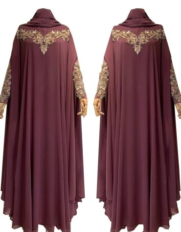 Eid Collection Farasa with Premium Handwork on neck and sleeves Abaya Style Dress For Women