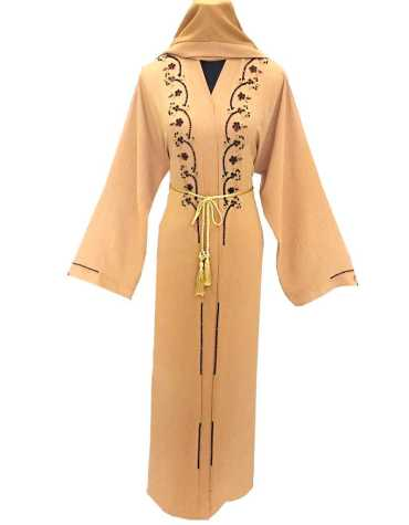 African Latest Headscarf Long Sleeve Evening Party Wear Abaya Dresses for Women