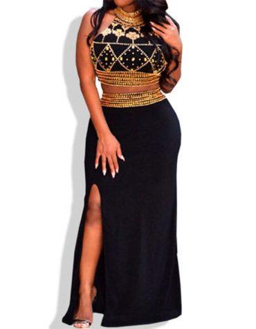 Super African Attire Open Chest Bridesmaids Long Spandex Kaftan Dresses For Women