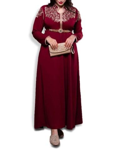 Latest African Attire Collared Neck Kaftan Dress for party & Wedding Moroccon Dubai Collection