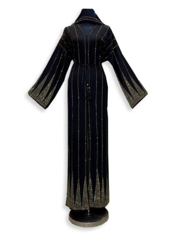 Trendy Occasion Collection African Evening Party Abaya With Rhinestone Work