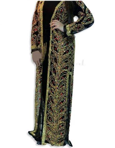 Elegant Rhinestone Fancy Party Wear Evening Long Shrug For Women
