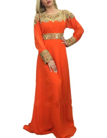 Luxury Collection Super Stylish Golden Beaded Party Wear Gown Dresses For Women