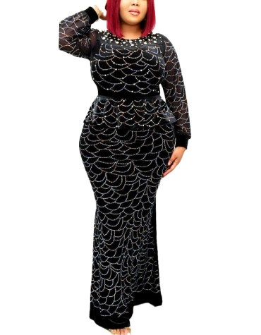 Trendy Collection Moroccan Heavy Beaded Peplum Evening Party Wear Dress For Women