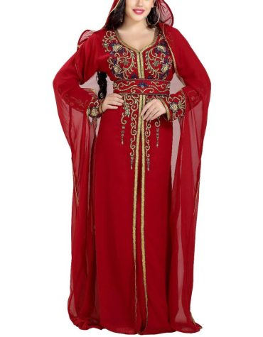 New Super Stylish Collection With Premium Golden Beads Kaftan Party Wear For Women