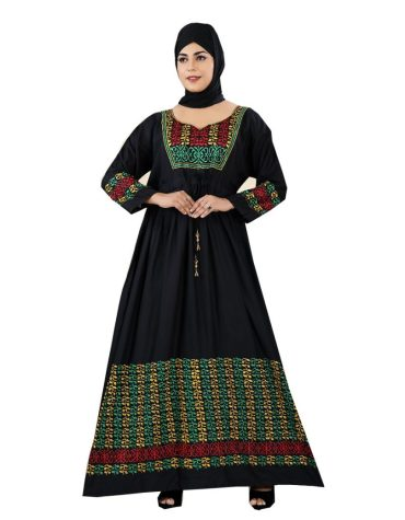 Outstanding Arrival Embroidered Rayon Long Dress Stitched Gown