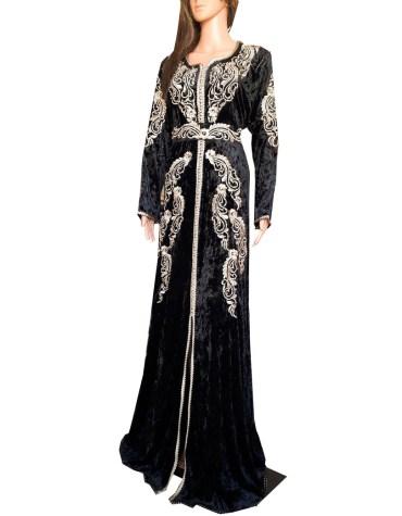 Royal New Designer Wedding Collection Gown Satin Silk Kaftan For Women
