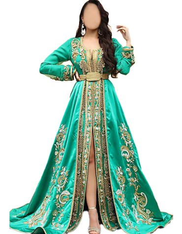 Royal Look New Trending Wedding Beautiful Stylish Kaftan Dress For Women