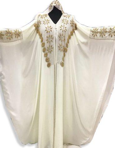Elegant Collection Farasa with Premium Handwork On Neck & Sleeves Abaya Style Dress For Women