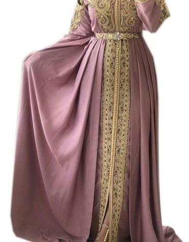 New Elegant Women Long Sleeve Designer Embroidered Prom Dress