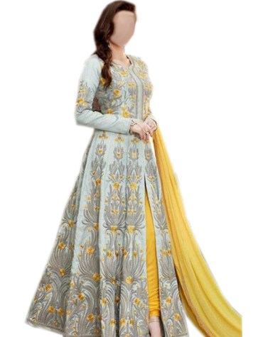 New Beautiful Full Sleeves Anarkali Frok With Inner For Women
