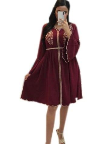 Trendy Stylish Beaded Evening Party Wear Tunic Chiffon Dress