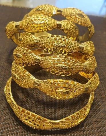 African Latest Model African Style 2 Gram Gold Plated Bangle