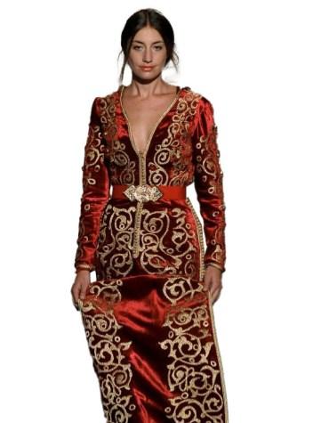Latest Heavy Embroidered Work Velvet Kaftan For Women
