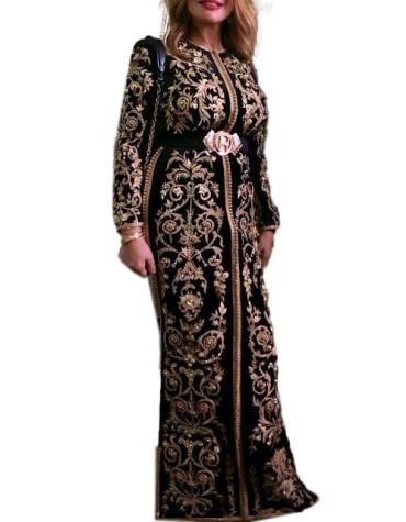 Heavy Embroidered Work With Designer Belt Kaftan For Women