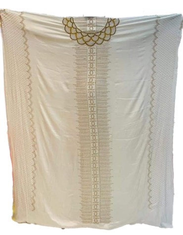 African Embroidered Premium Silk Satin Dress Material For Women