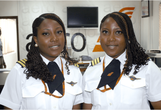 Twins, Senior First Officers Hassana and Huseina Edili-Ogaji