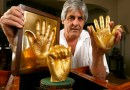 2 Pics: DISGUSTING: Solid Gold Casts of Nelson Mandela's Hands Sell for $10 Million