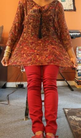 Red Skinny Jean Girl 3