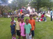 FAMILY: The children and I @University Circle's Parade the Circle