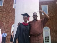 My Father at my Master's graduation