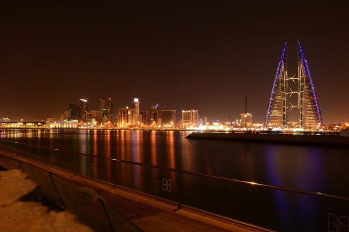 Bahrain at night World Trade Center