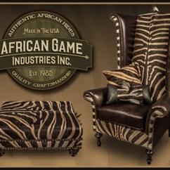 Zebra Print Office Chair Kneeling Posture Depot African Game Industries | Genuine Skins