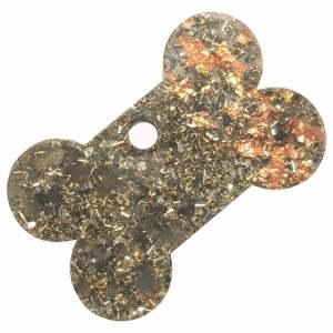 Orgonite Large Bone Charm with Labradorite and Copper Starburst Leaf
