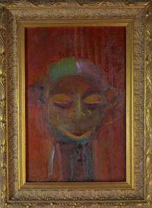 Painting, Xea B. , oil on canvas, Yaka, African symbolic portrait
