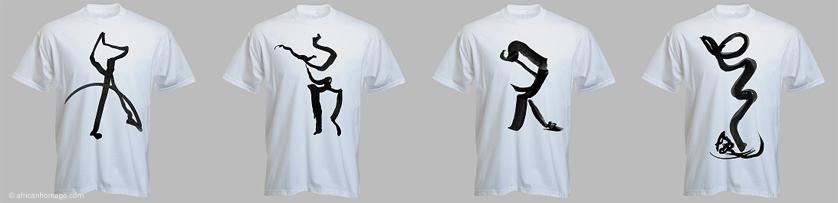 Ink works, teeshirt, textile, African dance, Xea B.