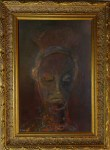 African Symbolic Portrait, painting, framed, Xea B.