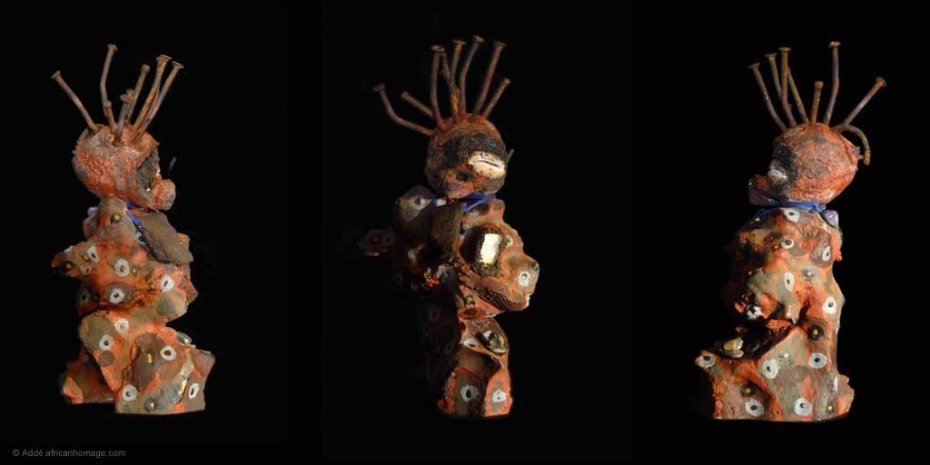 Sculpture, Addé, Nkisi, African Homage