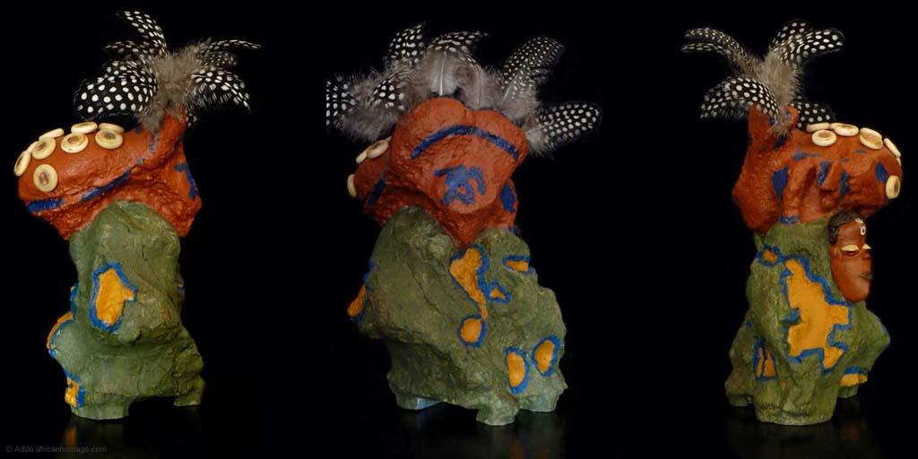 Art sculpture polychromy mixed media