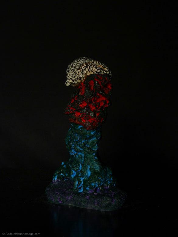 Sculpture, polychromy, The Cinnabar Fields, Addé