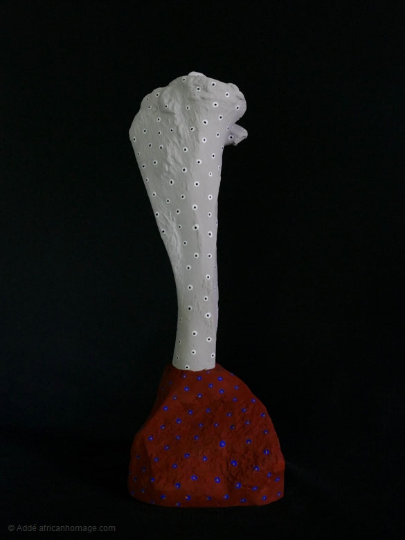 From Stone to Bone, sculpture, Addé, African Homage