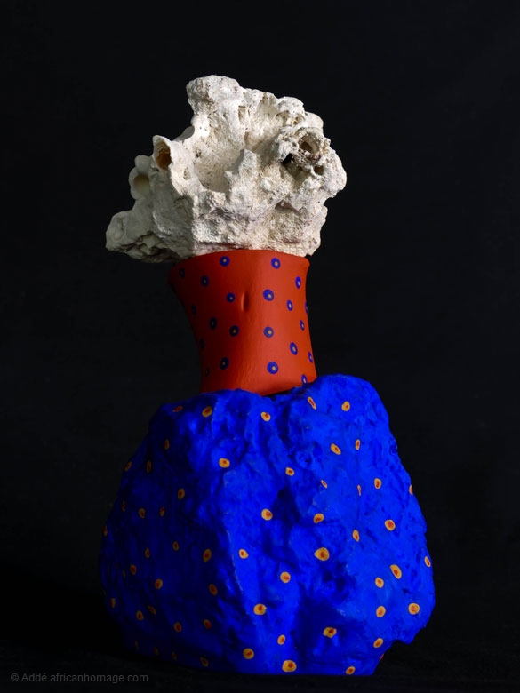 Tenderness, sculpture, Addé, African Homage