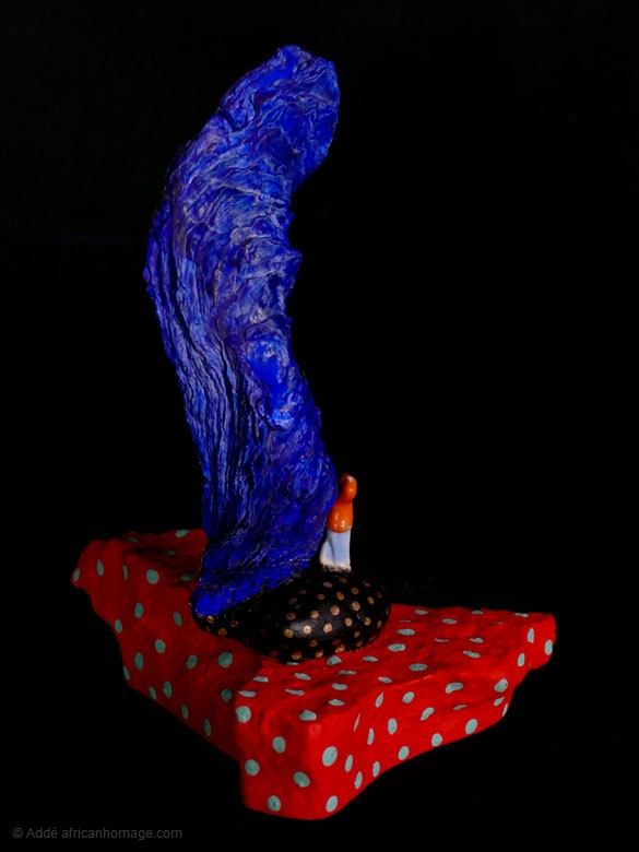 Sadness of the clown, sculpture, Addé