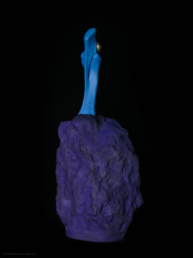 Aeolus, sculpture, addé, african homage