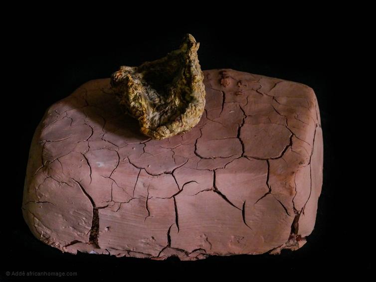 Drought, sculpture, Addé