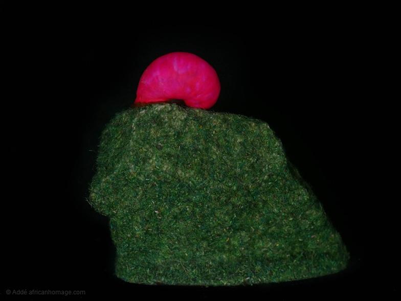 Chameleon snail, sculpture, Addé
