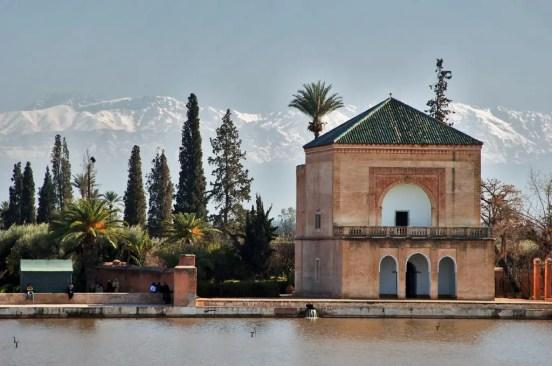 Menara gardens (the Atlas Mountains in the background).