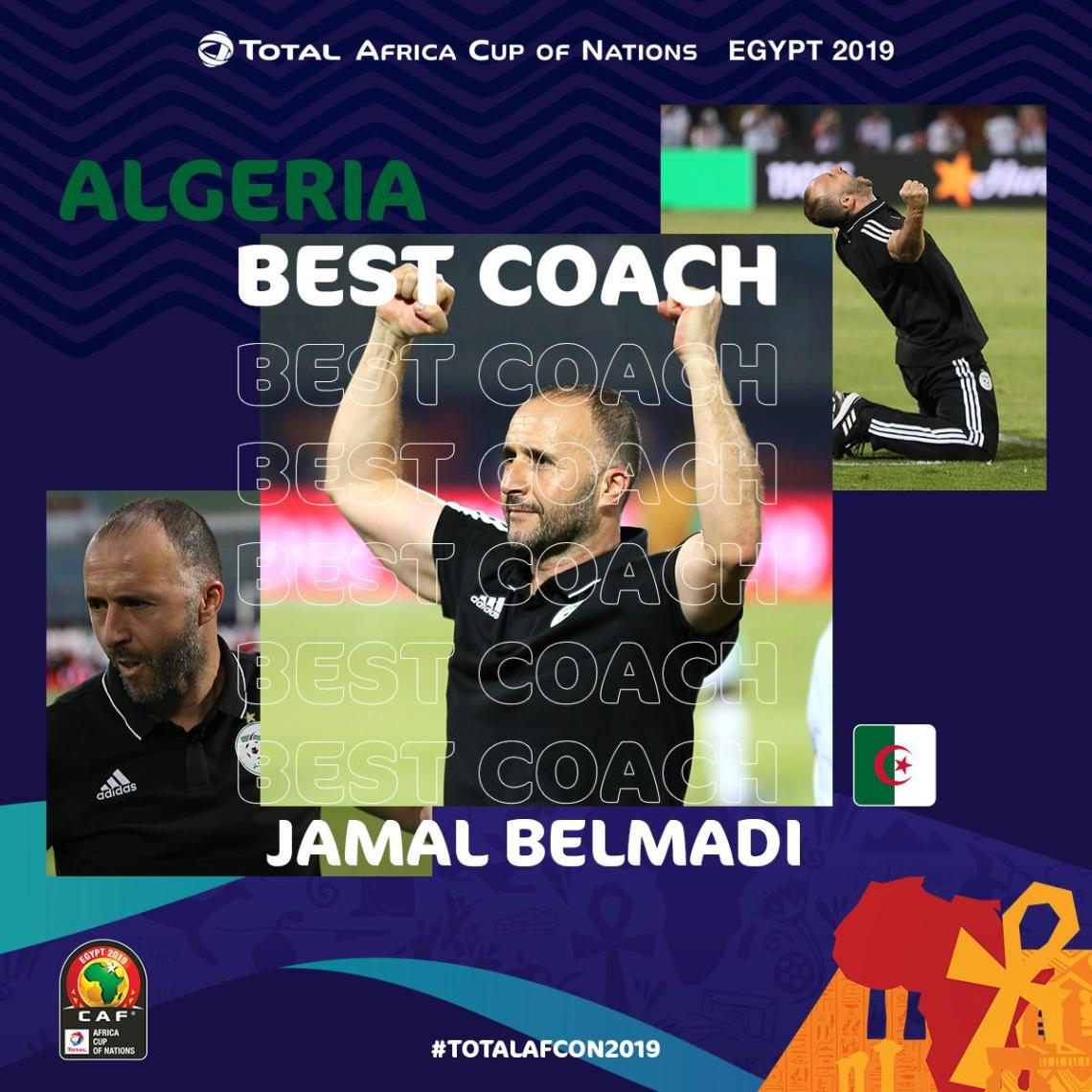 Belmadi- meilleur coach de la phase des poules